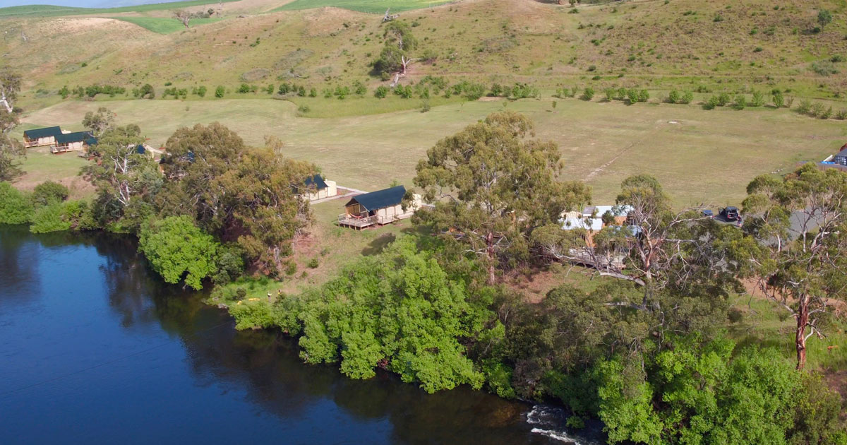 truffle lodge aerial view