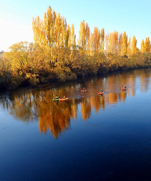 autumn kayaking on derwent river
