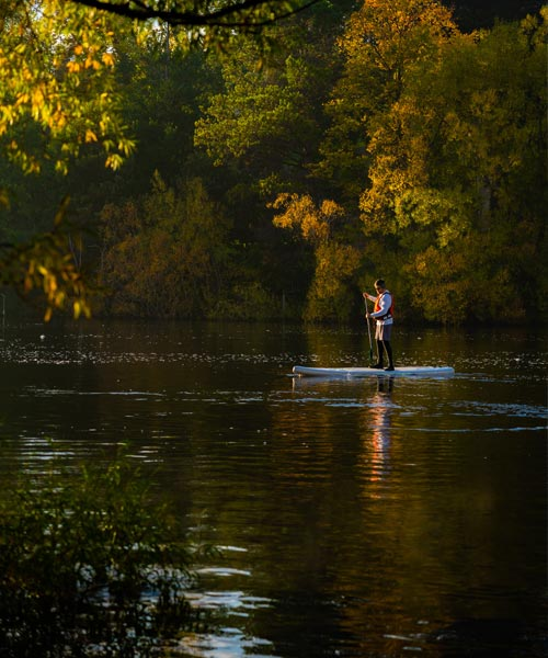 autumn sup on derwent river