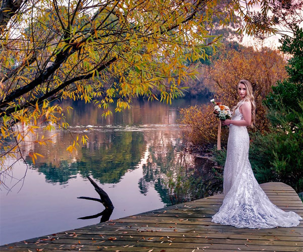 bride by the the river derwent